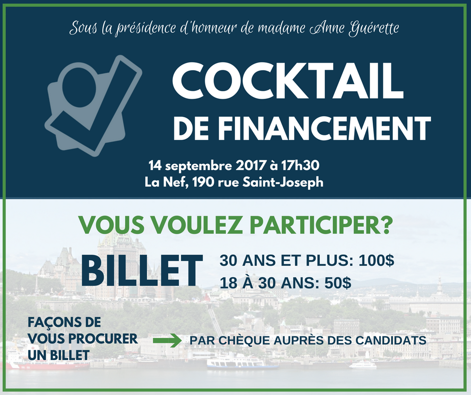 cocktail de financement de democratie quebec