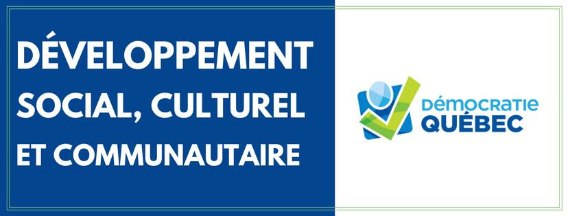 développement social culturel et communautaire - ville de Québec