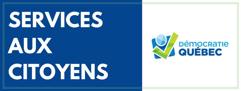 services aux citoyens - ville de Québec