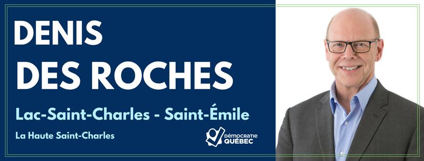 Denis Des Roches - Candidat de Démocratie Québec aux élections municipales de Québec dans le district Lac-Saint-Charles-Saint-Émile - Haute Saint-Charles