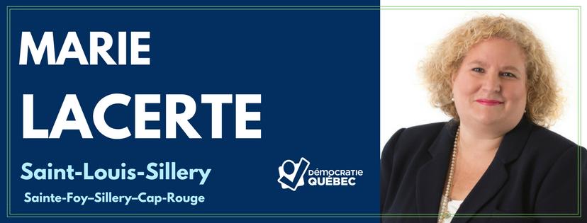 Marie Lacerte - Candidate de Démocratie Québec aux élections municipales de Québec dans le district Saint-Louis-Sillery - Sainte-Foy-Sillery-Cap-Rouge
