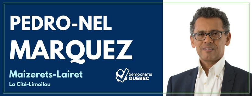 Pedro-Nel Marquez- candidat democratie quebec district Maizerets-Lairets - la Cité-Limoilou