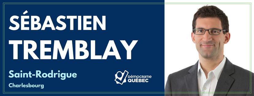Sébastien Tremblay - Candidat de Démocratie Québec aux élections municipales de Québec dans le district Saint-Rodrigue - Charlesbourg