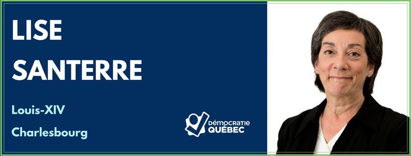 Lise Santerre - Candidate de Démocratie Québec dans le district de Louis-XIV - Charlesbourg - Élections municipales ville de Québec