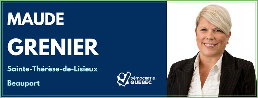 Maude Grenier - Candidate de Démocratie Québec dans le district Sainte-Thérèse-de-Lisieux - Arrondissement Beauport - élections municipales ville de Québec