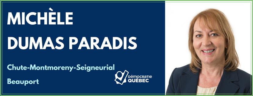 Michèle Dumas Paradis – Candidate de Démocratie Québec aux élections municipales de Québec dans le district Chute-Montmorency-Seigneurial